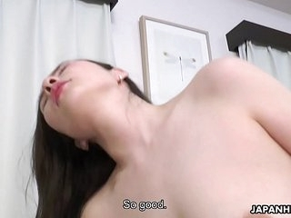 Japanese housewife, Ai Kamijou rides dick, stuffed