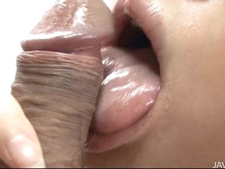 Japanese Honey Yukina Momose Licking added to Eating Puristic Balls