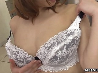 Japanese maid, Yume Aino is so good at titjobs, rounded out