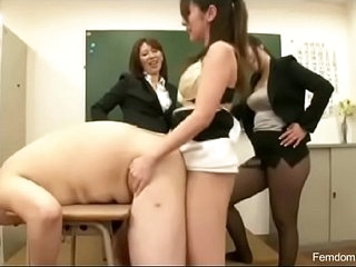 Three teachers fucking japanese guy
