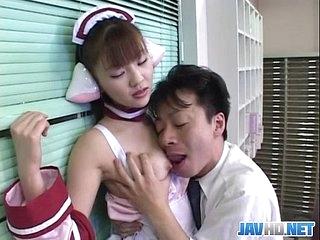 Japanese demoiselle serves burnish apply house guest