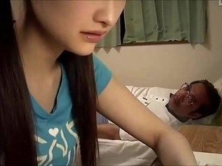 Japanese omnibus girl blows old teacher