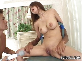 Petite Japanese babe refurbishing two cocks uncensored.