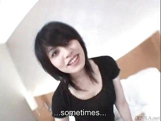 Subtitled lap Japanese unfaithful wife secretly does AV
