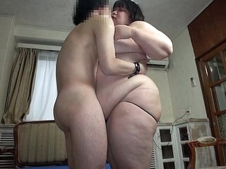 Subtitled Japanese experimental BBW fat body worship in the matter of HD
