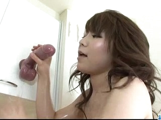 Voluptuous Japanese Meina loves her chubby toys