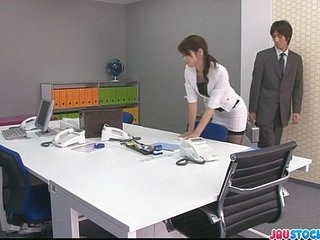Japanese offce chick fucked hard and taut mannaise