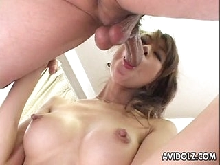 Japanese babe Aki gets fingered close prevalent Uncensored
