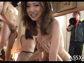 Uncouth japanese anal gangbang