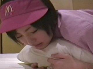 Japanese girl ( 18) with McDonald's uniform 002