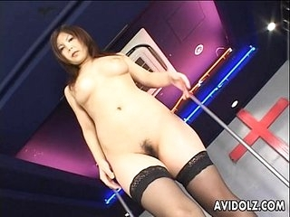 Japanese lock dancer pleases herself