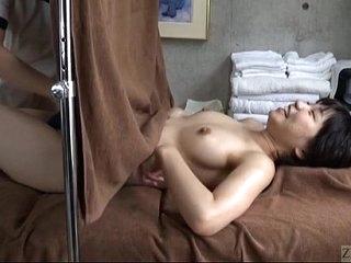 Subtitled CFNF ENF Japanese lesbian massage clinic spoken