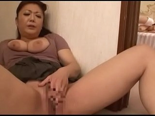 Japanese old woman masturbates obeying daughter masturbate