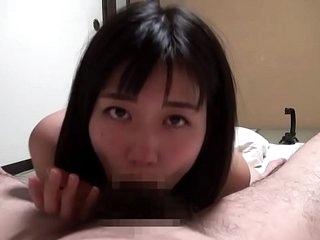 Nao Jinguji Japanese POV blowjob and selfshot sex Subtitles