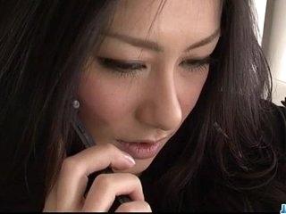 Pronounced fuck for brunette Japanese hottieKyoka Ishiguro