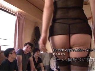 Subtitled Japanese AV fame Tsubaki Katou gokkun party