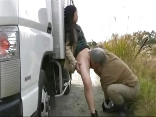 Japanese mature Milf pee and fuck on a governing trip