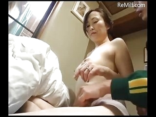 Japanese Milf's host is scrubbed wits her daughter's BF