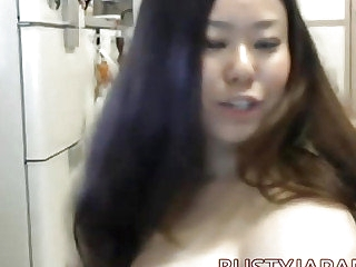 Busty japanese Fuko fro the webcam