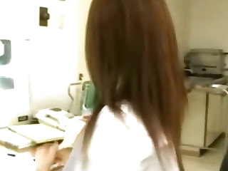 Japanese nurse blowjob and facial cumshot