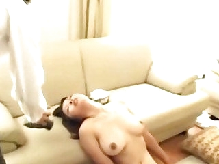 Naughty well-endowed japanese bitch gets fingered
