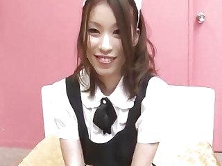 Nao Kojima Japanese maid fucks with say no to master