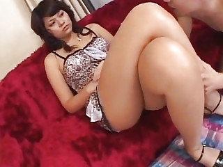 Foot fetish porn scenes along hot Japanese AV Parcel out