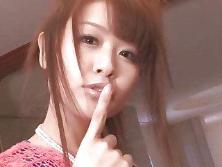 Maika gives a japan bird blowjob with an increment of fucks four guys
