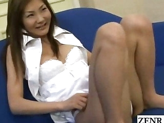 Subtitled Japanese masturbation while friends watch
