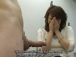 Subtitled Japanese CFNM orgy recital leads close to erection