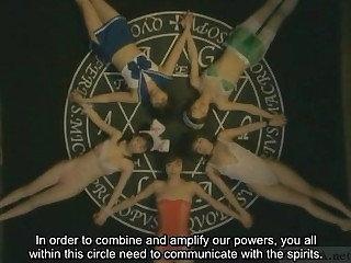 Subtitled irregular Japanese witchcraft of a male effeminate trinket orgy