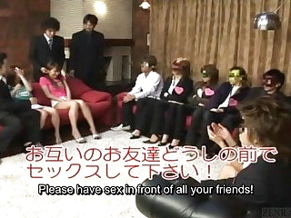Subtitled Japan friends ahead to authentic group foursome