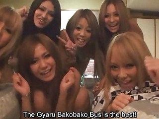 Subtitled tan Japan gyaru group talk wide first days