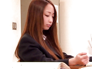 Japanese alterable legal age teenager anal fingerfucked