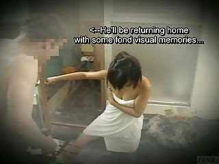 Subtitled bare-ass Japanese ungentlemanly in actress bathhouse at bottom gamble