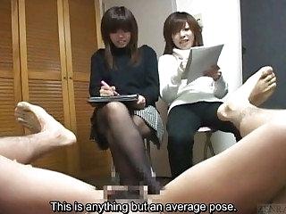 Subtitled weird Japanese CFNM erection stratagems class sketch