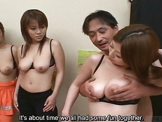 Subtitled prurient Japanese geezer has big heart of hearts harem