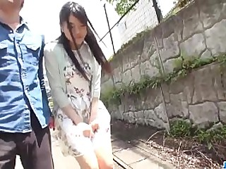 Hot japan spread out Misaki Oosawa lick cock with an increment of fuck in excellent outdoor scene