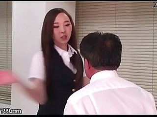 Masochist Man Dominated by Japanese Office Lady