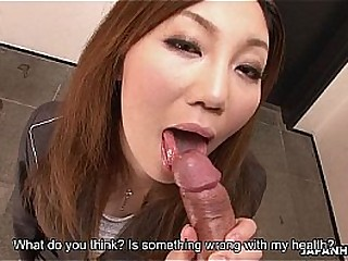 Hot Asian place bitch sucking the dick so violently