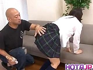 Kanna Harumi has hairy snatch fucked