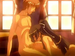 Japanese hentai tittyfucking and swallowing cum
