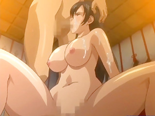 Well-endowed Japanese hentai blowjob a cock