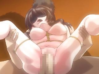 Japanese hentai cutie around blindfold hard poking