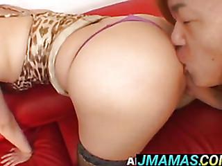 Tramontane Model gets cum on big ass