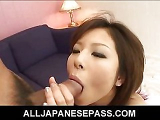 Petite oriental babe gets her hairy cunt creampied