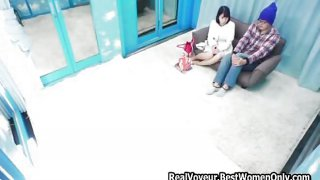 Asian Japanese Couple Porn Show Public Glass Room 34