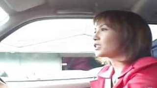 xxx Japanese MILF uses a remote control vibrator in public plus blows