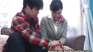 Japanese Young Couple Sex Game Median Glass Walls 17