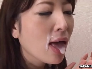Japanese housewife, Noeru Mitsushima wants to adorn come of a pornstar, uncensored
